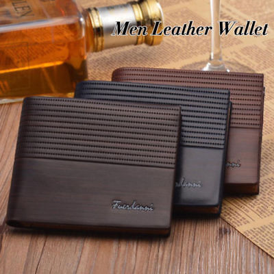 Men's Luxury Bifold Leather Wallet ID Credit Card Holder Billfold Purse Clutch
