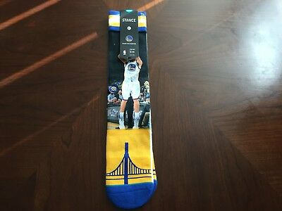 ad41feac6698 Stance Golden State Warriors Splash Brother Socks Curry Thompson Size Large  9-12