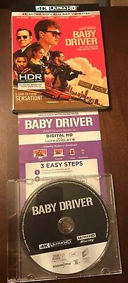 Baby Driver 4K Ultra HD Blu-ray, Digital HD In Jewel Case With Slipcover