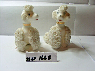 poodles salt and pepper shakers