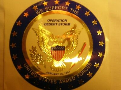 Operation Desert Storm  round sticker decal bumper stiicker military gulf war