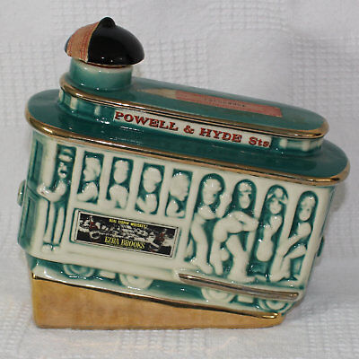 Vintage Ezra Brooks Powell and Hyde Streetcar Trolley Whiskey Decanter Empty