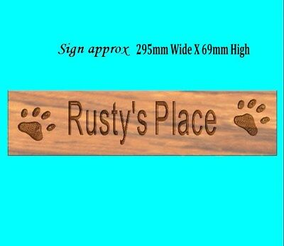 Pets memorial plaque made to order 295mm long