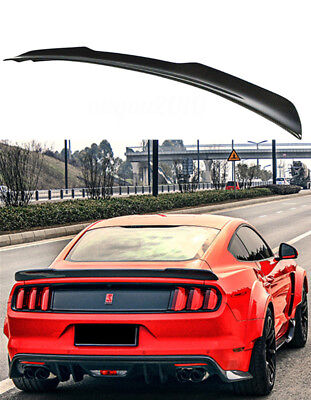 Carbon Fiber Rear Trunk Lip Wing Spoiler Fit For 2015 + Ford Mustang GT Shelby