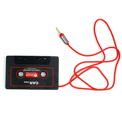 1Pcs Car Auto Cassette Casette Tape 3.5mm AUX Audio Adapter For MP3 MP4 Player