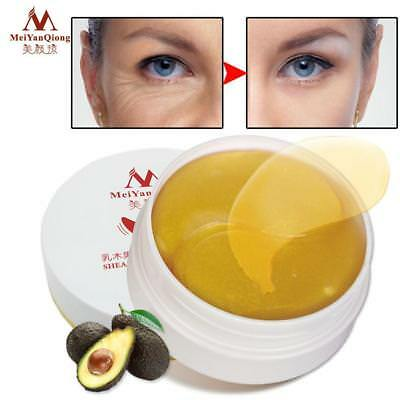 60Pcs/Bottle shea butter Eye Mask Eyelid Patch For Anti Wrinkle Dark Circles~