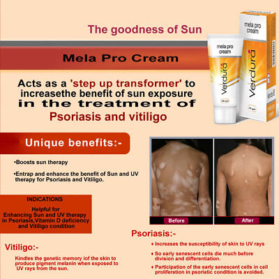 Mela Pro Cream - Sun & UV Therapy in Psoriasis | Vitiligo | Vitamin D Deficiency