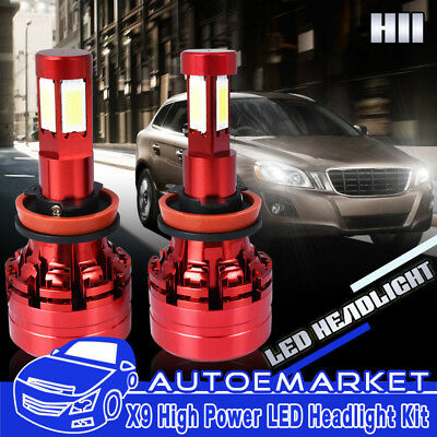 4 Sides H11 LED Headlight Low Beam Bulbs for Toyota Prius 10-16 2010-2016