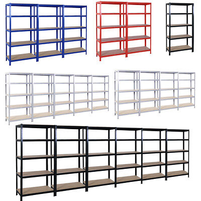 Garage Workshop Racking Unit 5Tier Warehouse Storage Shelving Bay Shed 1.8M Tall