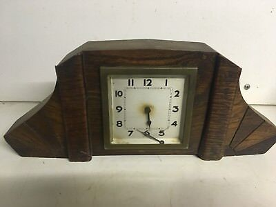 Antique Vintage Art Deco Wooden French Clock France Parts Spares
