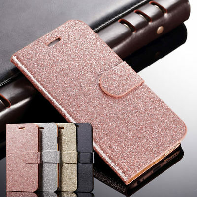 Ultra Thin for Samsung Galaxy Phones Glitter Shockproof Flip Wallet Case Cover