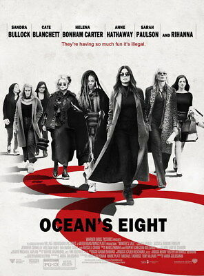 """001 Oceans 8 - Action Crime Thriller 2018 USA Movie 14""""x18"""" Poster"""