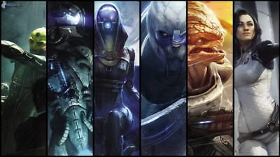 """003 Mass Effect 4 - ME Killer Fighting Shooting Hot TV Game 42""""x24"""" Poster"""
