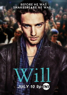 """001 Will - Shakespeare Laurie Davidson USA TV Show 24""""x34"""" Poster"""
