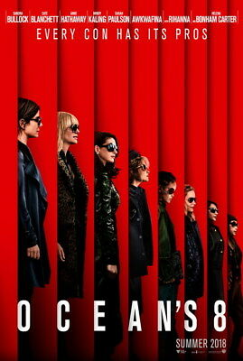 """003 Oceans 8 - Action Crime Thriller 2018 USA Movie 24""""x35"""" Poster"""