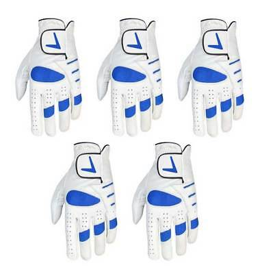 Brand New Mens Quality Leather Cabretta Golf Gloves Lh & Rh - Only £2.44 Each!