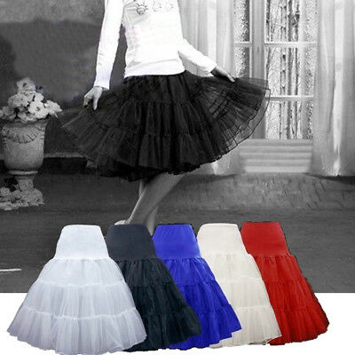 Girls' Underskirt Swing Petticoat/Rockabilly Lovely Tutu/Fancy Net Skirt S-XL