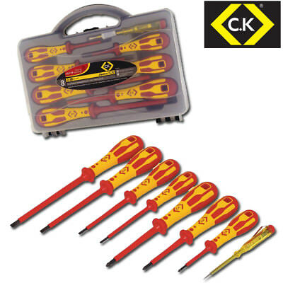 CK DEXTRO 8 Piece 1000v Insulated VDE Pozi (Pz) & Slot Screwdriver Set, T49193