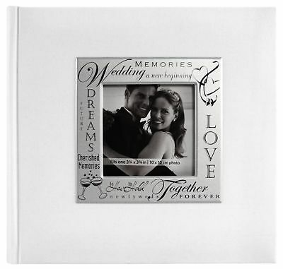 Wedding Theme Album 9x9 Fabric Expressions 4x6 Pictures 200 Pocket Dust Jacket