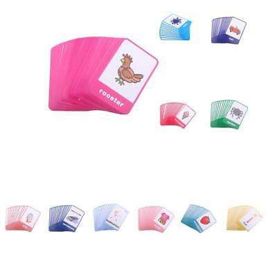 Kids Toddlers Playing Flash Cards Educational Learning Pocket Cards Activity