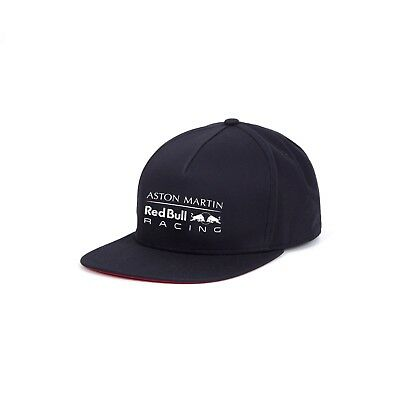 Aston Martin Red Bull Racing F1 Official Adults Logo Flatbrim Cap 2018 clearance