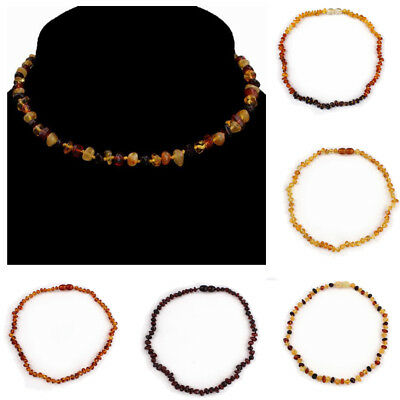 Natural Baltic Amber Baby Child's Genuine Necklaces & Bracelets Kids Gifts New
