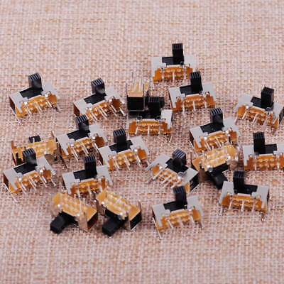 100X SK22H03G6 Mini Schiebeschalter DPDT 6 Pin 2 Position 6mm Knob Slide Switch