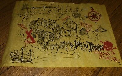Official Disney Pirates of the Caribbean Map Dead Men Tell no Tales