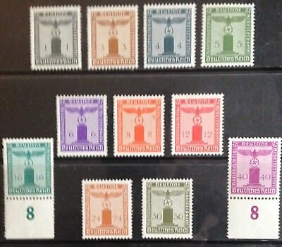 Germany Third Reich 1942 Eagle on Base issues MNH/MLH
