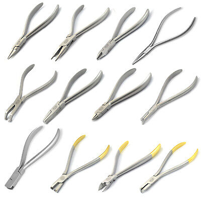 Orthodontic Arch Wires Lingual Ligature Cutters Wire Bending Loop Forming Pliers