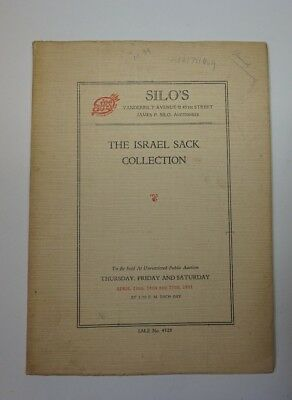 1931 Silo's Auction House Catalog Featuring The Israel Sack Collection