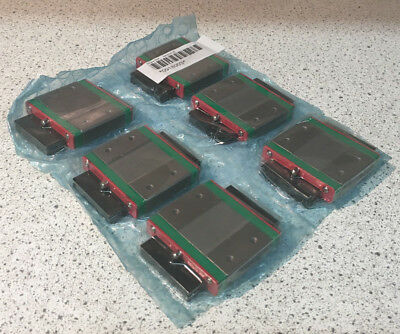 Lot of 6 HIWIN MGW15CH 1500HS-25 Linear Guideway Carriage Blocks