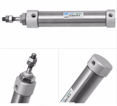 Pneumatic mini Air Cylinder 16mm bore - 50mm stroke Double acting Single rod UK