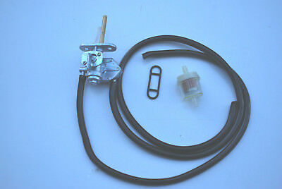 Suzuki Lt80 Fuel Petrol Tap  With New Filter Fuel Pipe & Vacuum Pipe