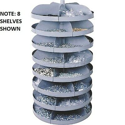 "NEW! 28"" Diameter Rotabin Revolving Parts Storage Shelving Center 7 Shelves!!"