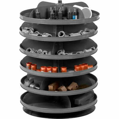 "NEW! 17"" Diameter Rotabin Revolving Parts Storage Shelving Center 6 Shelves!!"