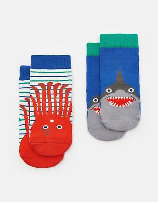Joules 124732 Baby Boys Two pack Thermo Regulating Bamboo Socks in Octopus