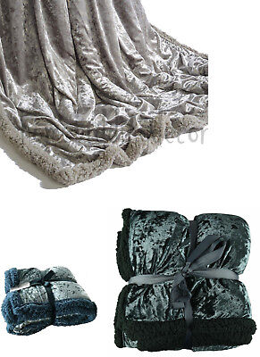 Bed Throw Blanket Silver Duck Egg