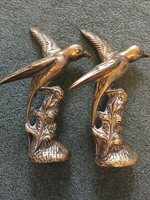 Two Solid Brass Birds - Nice.
