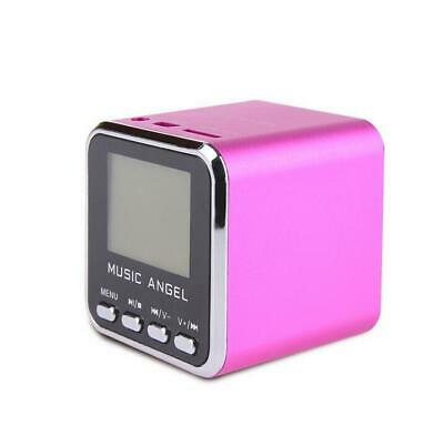 Music Angel JH-MD08D LCD Mini Digital Speaker Clock Alarm TF MP3 Player FM Radio