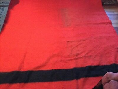 Vintage Early's Witney 4 Point Blanket red and black Made In England HBC