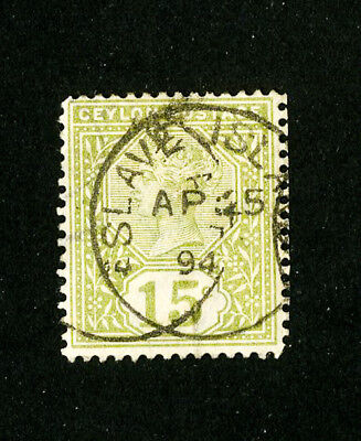 Ceylon Stamps VF Slave Island Cancel