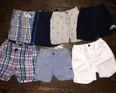 Lot Of 7 Baby Boys Summer Shorts 12-18 Months Baby Gap, Gymboree, H&M, Old Navy