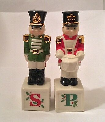 Lenox China - Salt and Pepper Shakers - Christmas Toy Soldiers