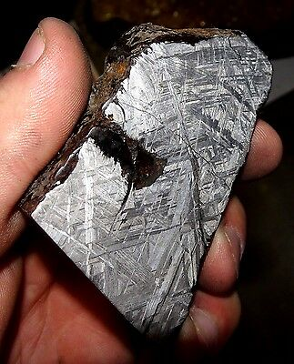 Amazing 179 Gm. Muonionalusta Etched Meteorite Slice
