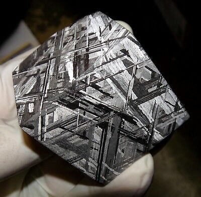 Beautiful 496 Gm Etched Gibeon Meteorite Cube From Namibia