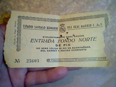 Ticket 9-X-1963 Champions Europe Cup  Real Madrid Vs Inter Milan Football