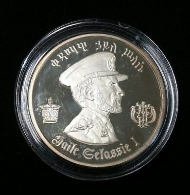 1972 $5 Ethiopia Haile Selassie 5 Dollar Silver Proof Coin Free Shipping!
