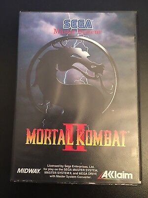 Mortal Kombat Ii 2 Master System Box With Case Cover - No Game