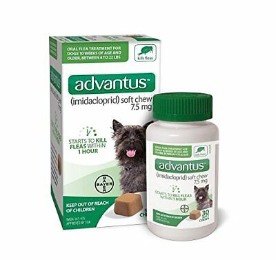 New Advantus Flea Soft Chews for Small Dogs (4-22 lbs)(30 count) - Ships Free